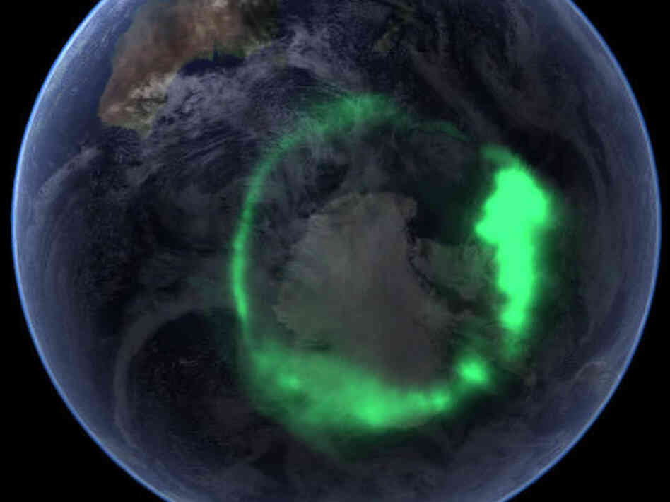 2005's Southern Spectacular: A satellite took this image of the aurora australis (southern lights) in September 2005, after a solar flare sent plasma — an ionized gas of protons and electrons — flying toward Earth.