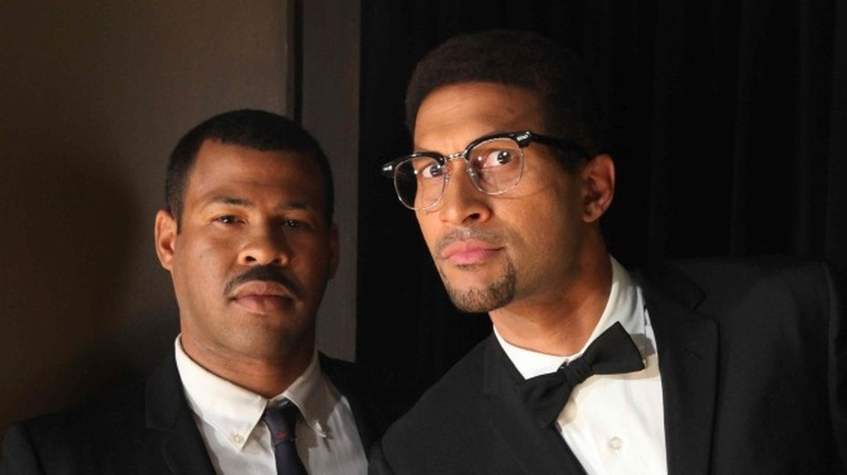 Key and Peele, both biracial, say their challenging experiences with others' expectations growing up now informs their comedy. (Comedy Central)