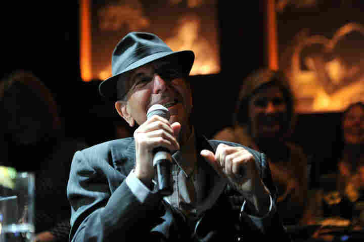 """Leonard Cohen at Joe's Pub in New York City. Performing live after years away from the stage """"warmed some part of my heart that had taken on a chill,"""" he says."""