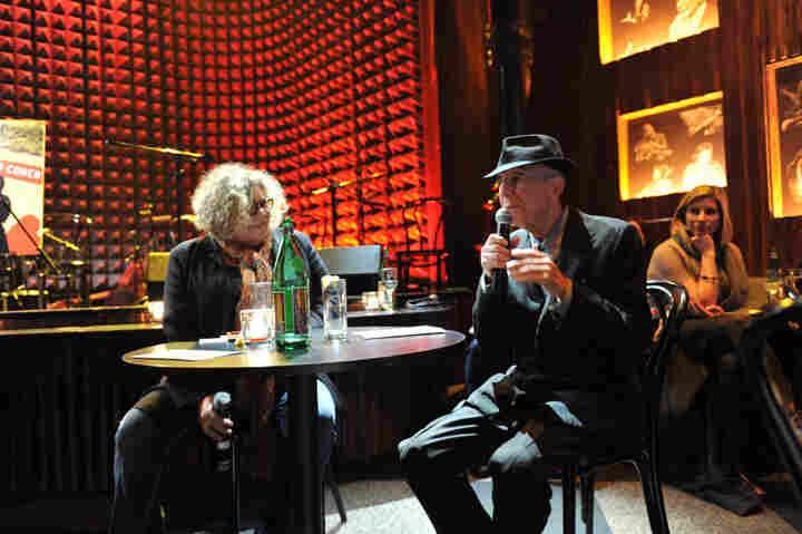 Rita Houston in conversation with Leonard Cohen at Joe's Pub in New York City.