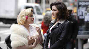 Ingenue Or Leading Lady? Ivy (played by Megan Hilty, left) and