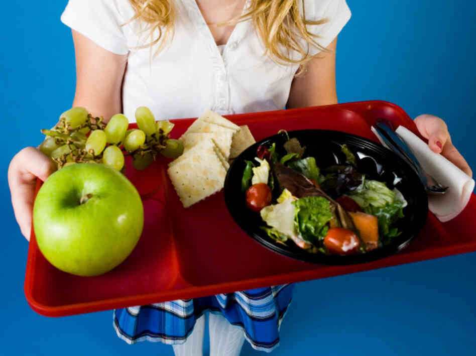 The new nutrition standards will replace school lunch dishes li