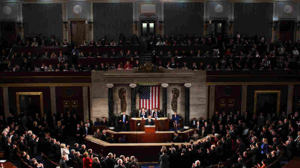 President Obama delivers his State of the Union address at the Capitol on Tuesday.