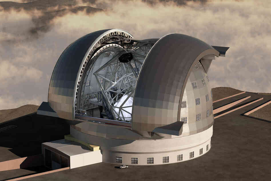 European Extremely Large Telescope (E-ELT)Not to be outdone, the European Southern Observatory (ESO) is planning its own really, really big telescope. E-ELT's main mirror will consist of 1,000 small mirrors, creating a primary light-collecting area that's 128.9 feet across. This telescope will also be in Chile — on Cerro Amazonas, a peak in the Atacama Desert. ESO is a consortium of ...