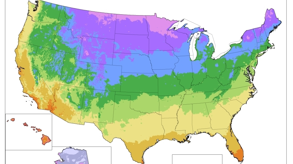 Gardening Map Of Warming Us Has Plant Zones Moving North The - Planting-zone-map-of-us