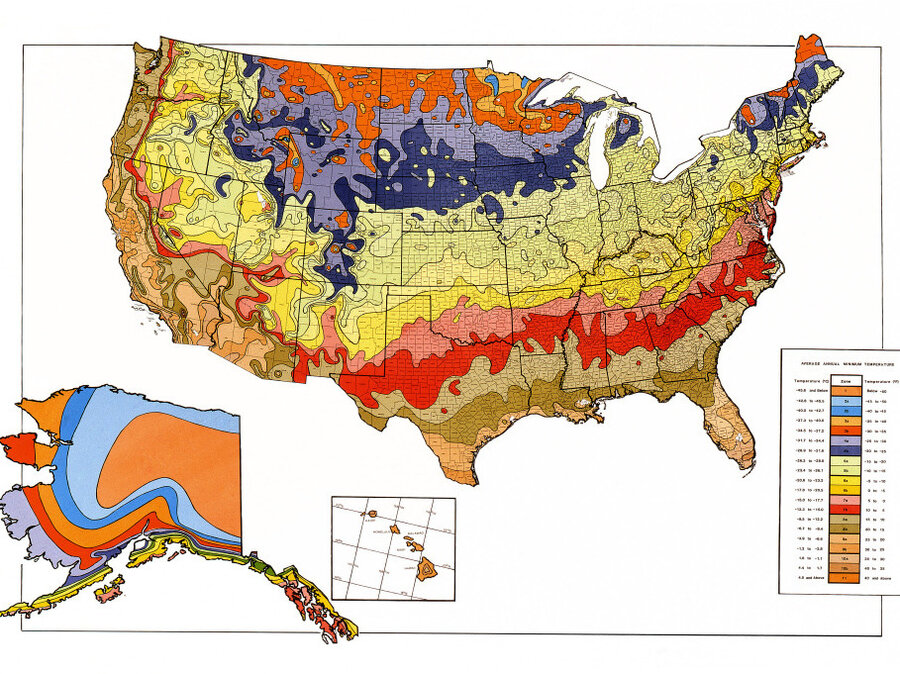 Gardening Map Of Warming US Has Plant Zones Moving North The - Map of the us zones