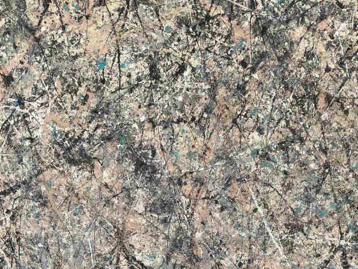 An artist who abandoned all conventions, Pollock used the separation and marbling of the wet paint enamel to create the dripping patterns in Number 1, 1950 (Lavender Mist).