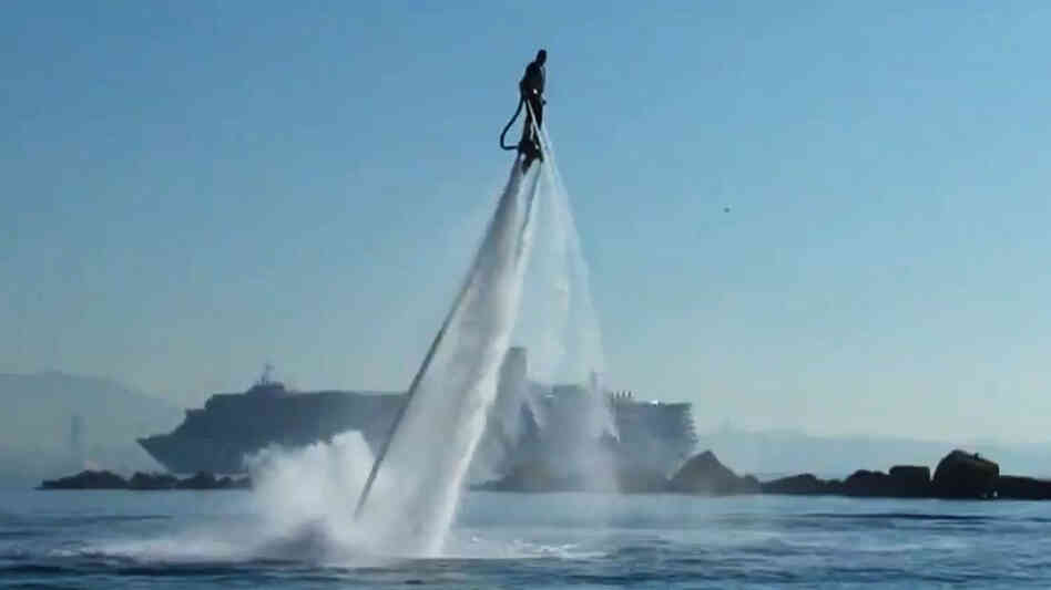 The Flyboard can go up to 30 feet in the air.