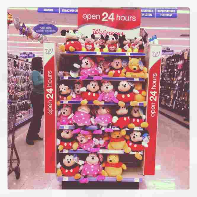 Mickeys, Minnies and Poohs for sale at Walgreens in Orlando.