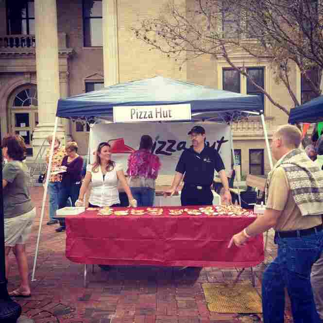 A Pizza Hut stand at a food festival in DeLand.