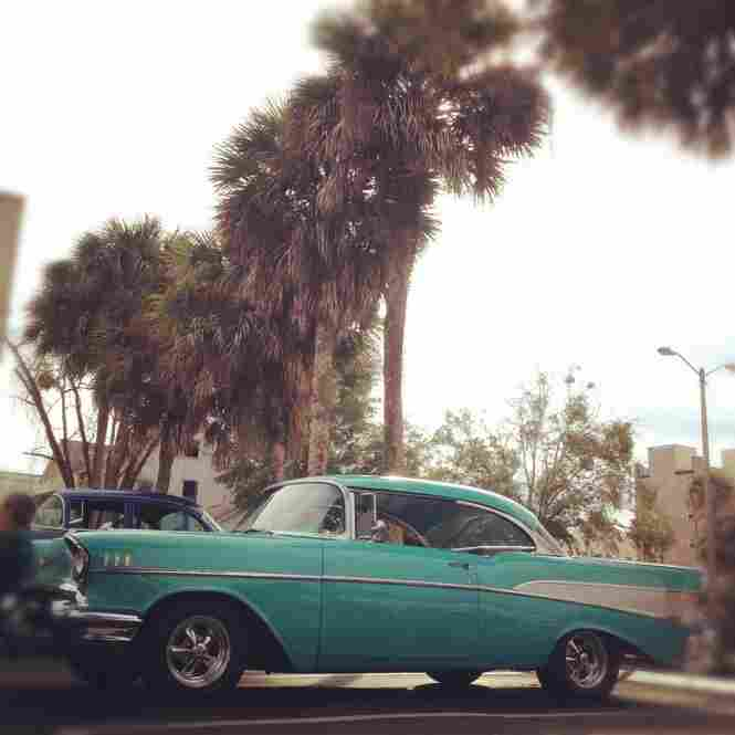 A classic car show in downtown DeLand.