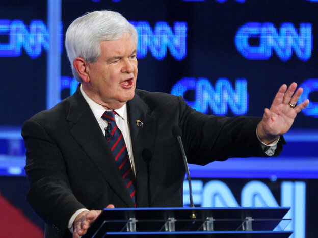 Pundits say former House Speaker Newt Gingrich had a mediocre performance in the Jacksonville, Fla., debate on Thursday.