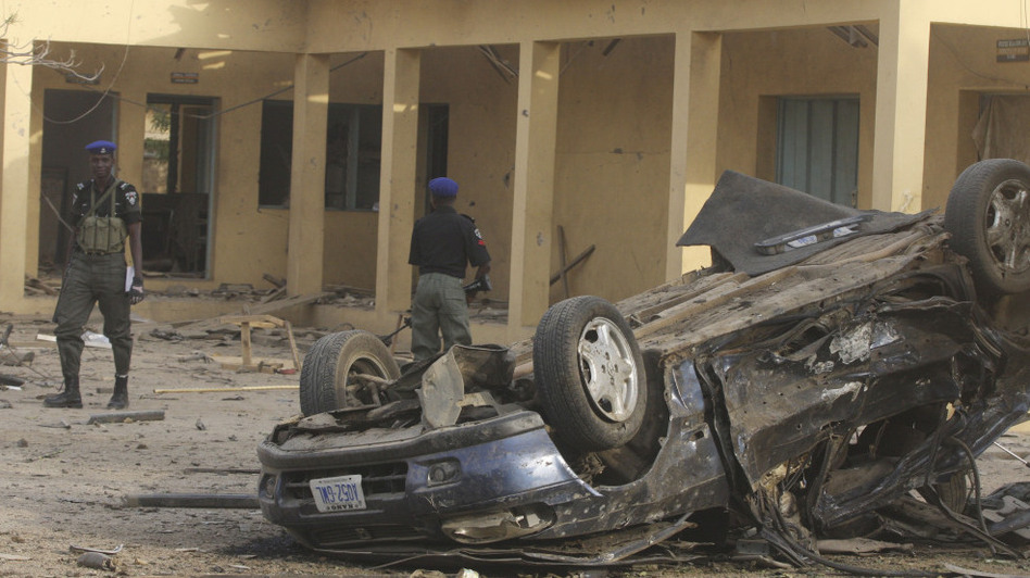 A radical Islamic group, Boko Haram, carried out a series of bombings in Kano, in northern Nigeria, including an attack on police headquarters, shown in this photo from Jan. 22.