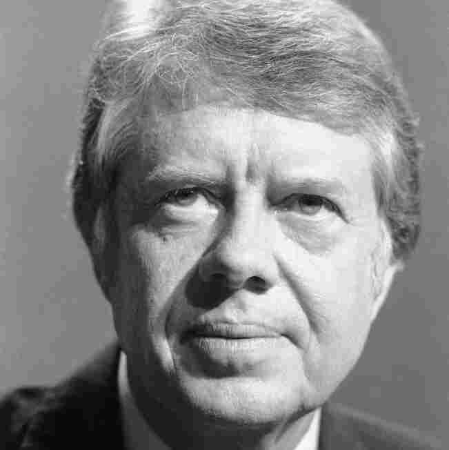 Democratic presidential candidate Jimmy Carter answered questions at a Unitarian church in New York City in January 1976.