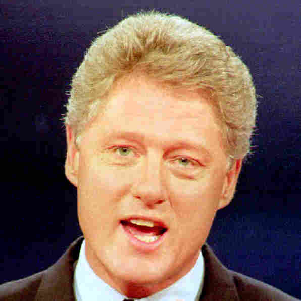 Democratic presidential candidate Bill Clinton answers questions during an October 1992 debate in St. Louis.