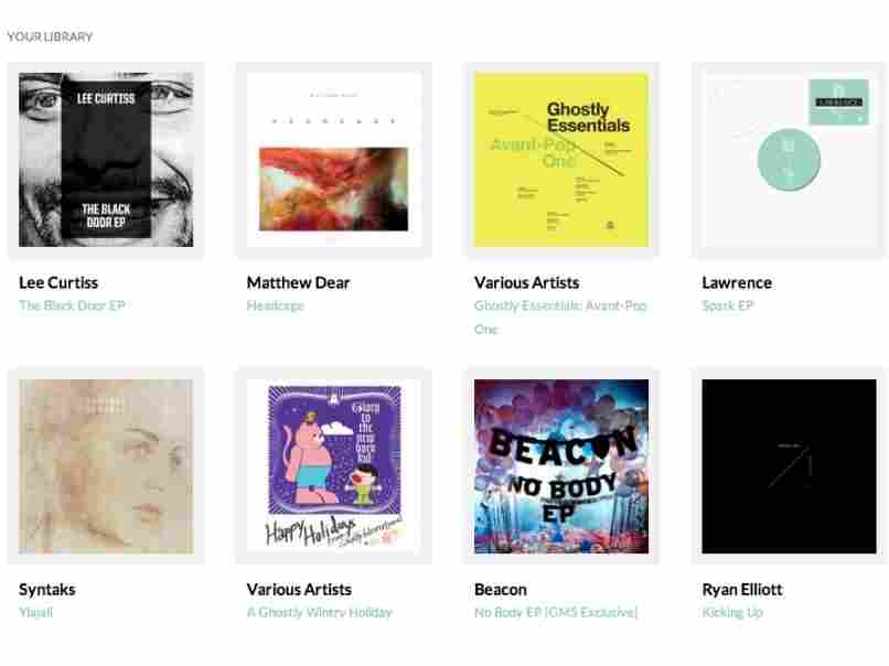 Fans of the indie label Ghostly International can access new releases via Drip.fm's subscription service.