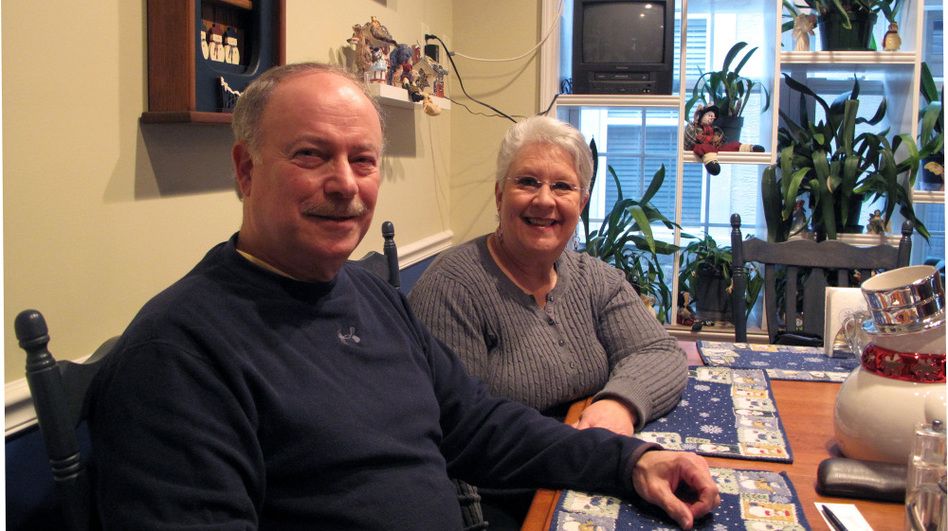 "If Jay and Bonnie Silverstein were able to refinance their mortgage, they could save nearly $500 a month. ""We're living paycheck to paycheck,"" Jay says. (NPR)"