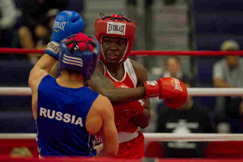 """Tiara at the International Duel in Oxnard last year. """"Boxing makes me believe that I can do anything. I feel like boxing is in my blood. When I am not boxing, I feel like a part of me is missing. I am in love with it. I could be married to boxing."""""""