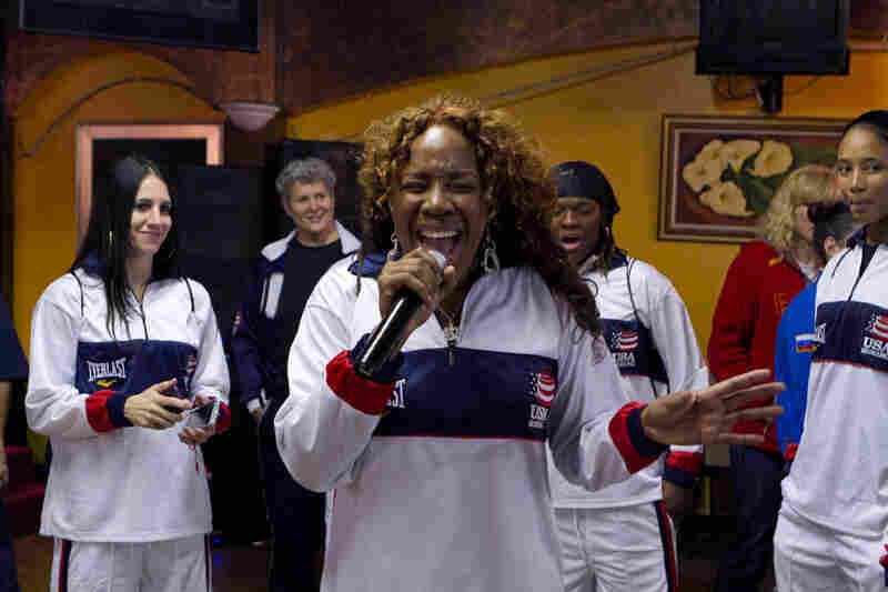 "Franchon was a contestant on American Idol. She swore that if she didn't make history singing, she was going to do it boxing. She is ranked No. 1 in the country. Here, she entertains her teammates at a tournament. ""I'm not going to let anybody stop me.  Boxing is part of my life, it's not my life."""
