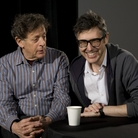 Glass on Glass: Philip Glass (left) and Ira Glass are second cousins.