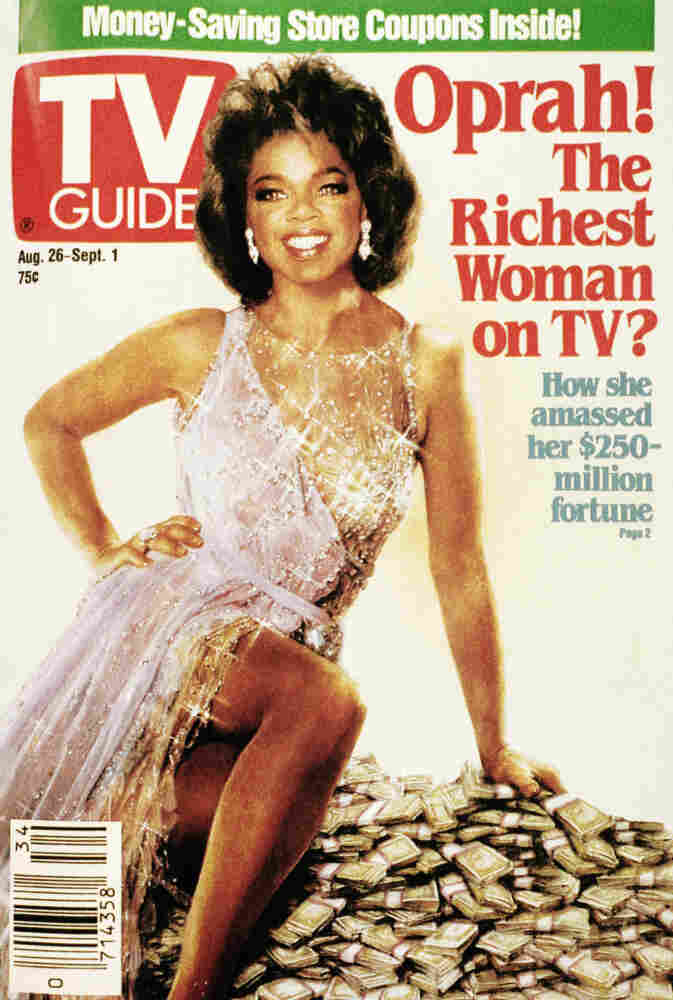 A 1989 issue of TV guide featuring Oprah Winfrey's face superimposed on actress Ann-Margret's classic hourglass figure.