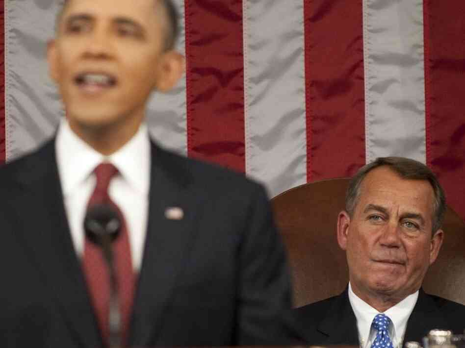 House Speaker John Boehner, R-Ohio, listening last week as President Obam