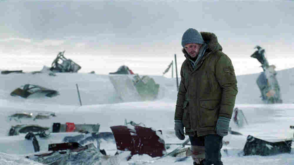 John Ottway (Liam Neeson), survivor of a plane crash in the Arctic, considers his next — and maybe final — move in The Grey.