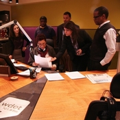 WDET staff members and Tell Me More producers help host Michel Martin prepare for her broadcast from Detroit.