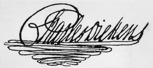 Dickens had an elaborate signature — his name set atop a triangle of flourishes.