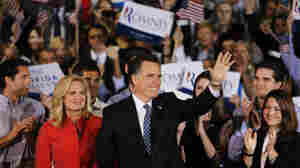 Republican presidential candidate Mitt Romney waves to supporters after winning the Florida primary on Tuesday.