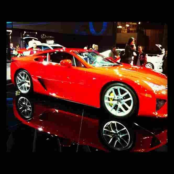Detroit auto show LFA, by @tommybianca