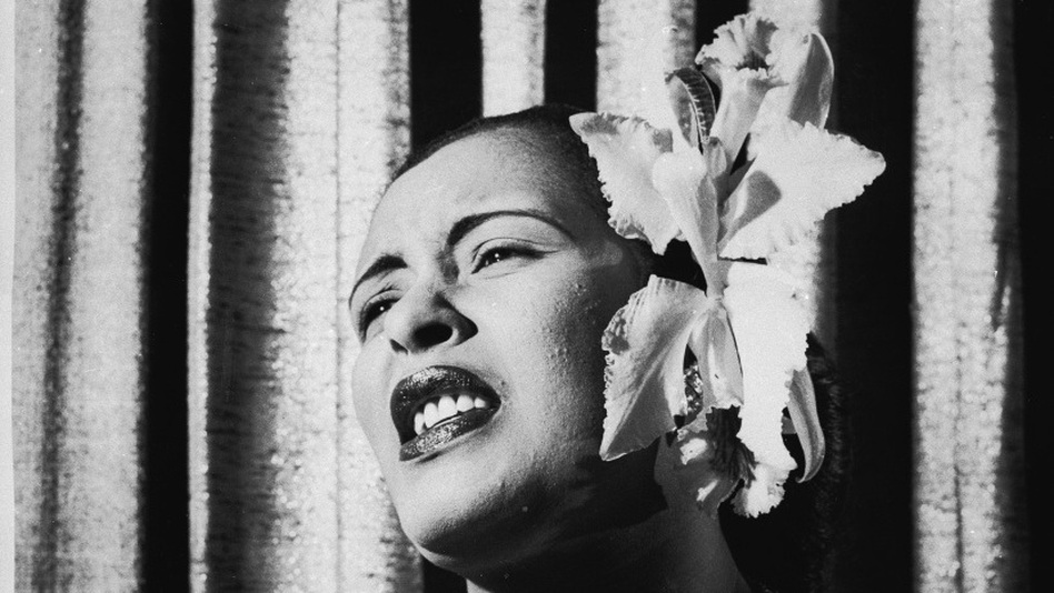 Billie Holiday, early 1950s.  (Getty Images)