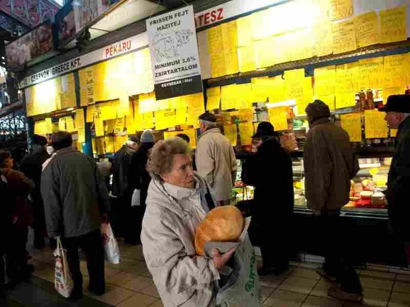 Hungary now has the highest sales tax in the European Union — 27 percent. Here, a woman goes grocery shopping in the capital, Budapest, in January.