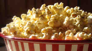 A bowl of popcorn