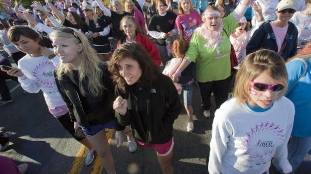 A Susan G. Komen Race for the Cure in Little Rock, Ark., in 2010.  (AP)