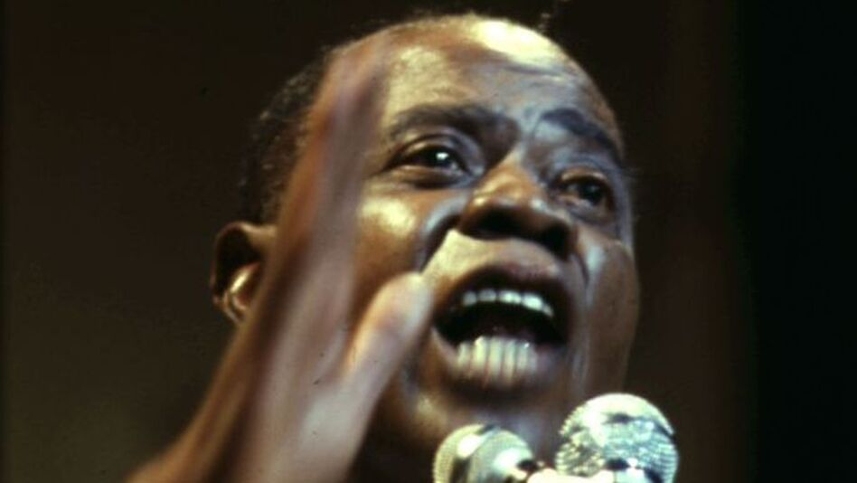 Louis Armstrong, ca. 1956. (Getty Images)