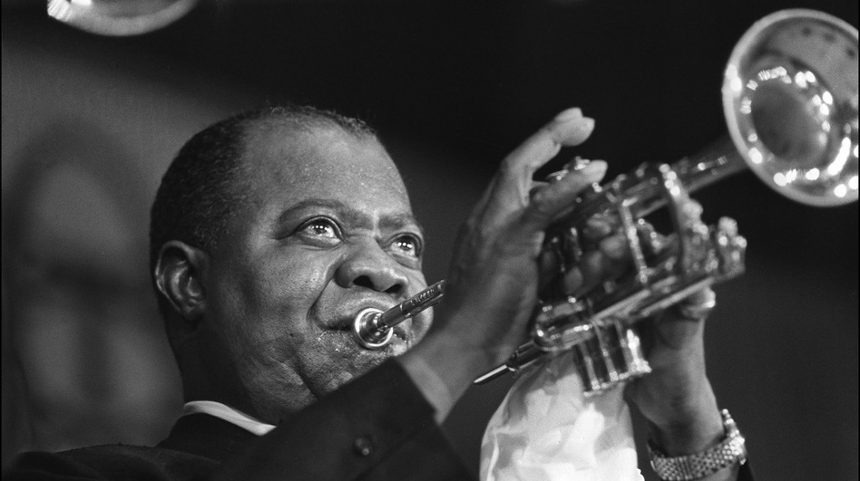 Louis Armstrong in Paris, June 5, 1965.  (AFP/Getty Images)