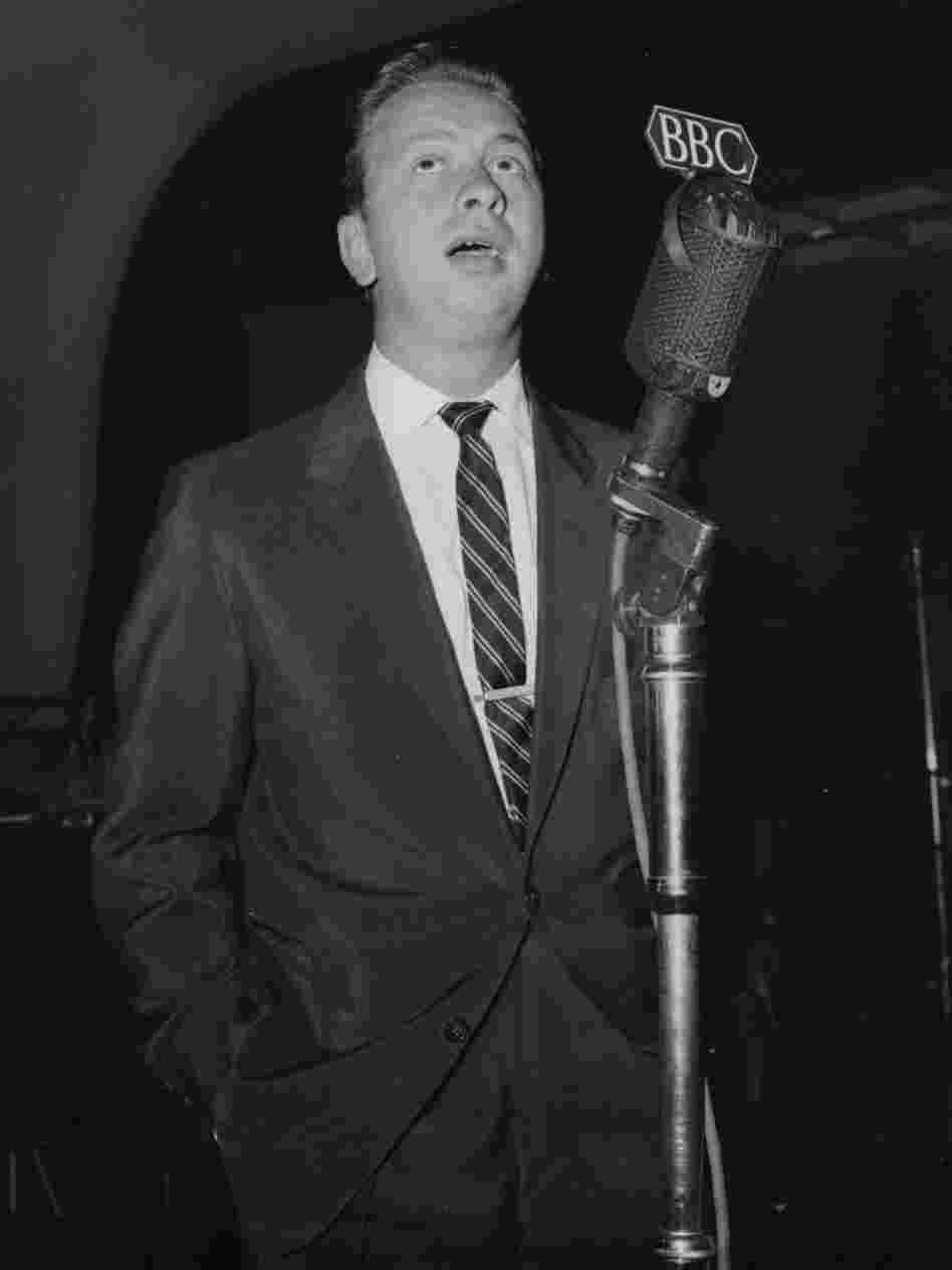 Mel Torme in the BBC recording studio of the Paris Cinema, Piccadilly, London.