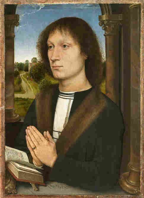 Italian bankers were often patrons of the arts — such as Benedetto di Pigello Portinari — who is pictured here in a portrait by Hans Memling.