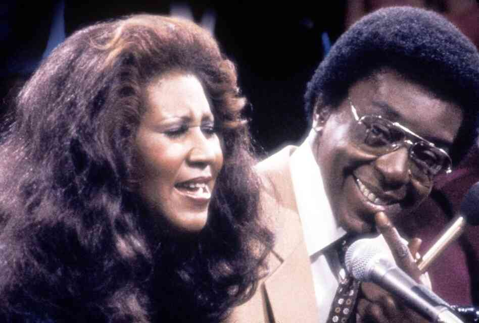 In this television still, Aretha Franklin sings next to Cornelius. She was one of many entertainers who performed on Soul Train in the 1970s.