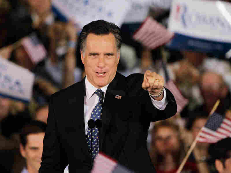 Mitt Romney speaks to supporters in Tampa on Tuesday after winning the Florida primary.