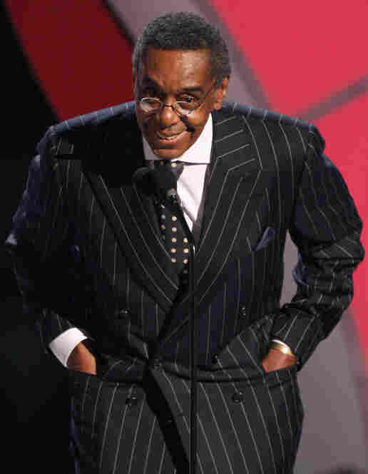 Cornelius, who created the first black-owned nationally syndicated TV franchise, presents an award at the 2009 BET Awards.