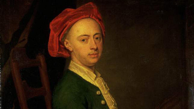 A portrait of Handel.