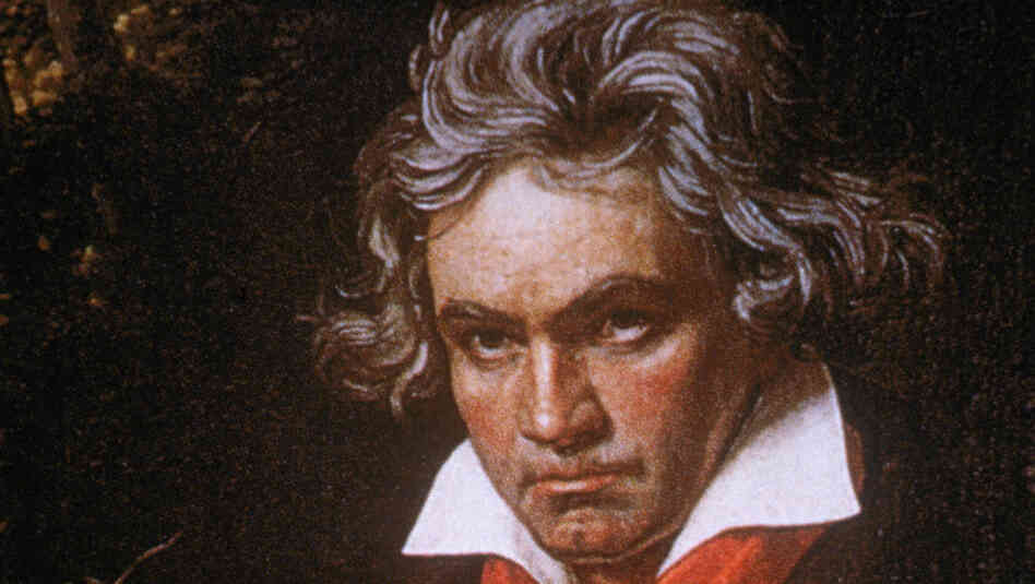 Portrait of German composer Ludwig van Beethoven by German painter Joseph Karl Stieler, circa 1820.