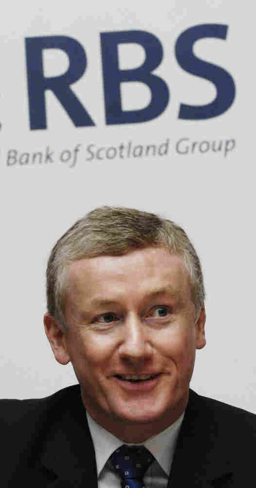 "The knighthood of Fred Goodwin (shown here in 2007), former chief executive of the Royal Bank of Scotland, has been ""canceled and annulled,"" the British government announced Tuesday. Under Goodwin's leadership, the bank nearly collapsed in 2008, leading to $70 billion bailout by British taxpayers and outrage over his large pension."