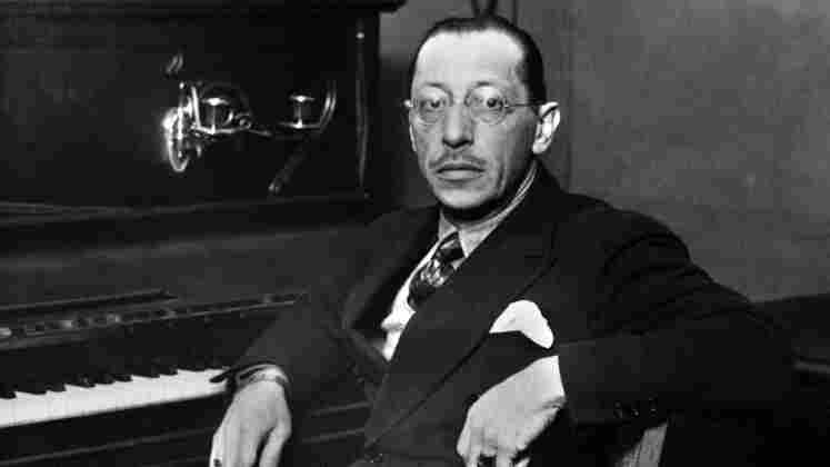 Russian-born US composer Igor Stravinsky in 1955.