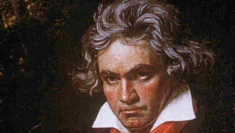 Portrait of German composer Ludwig van Beethoven.