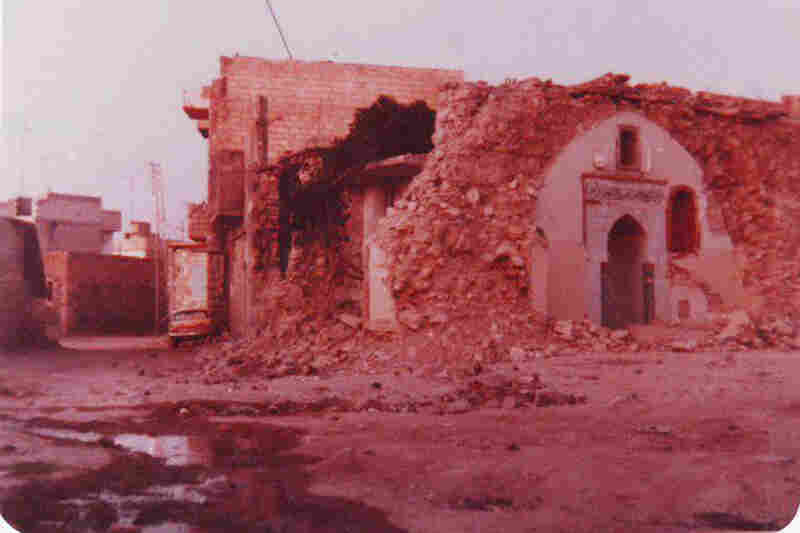 Remnants of a mosque that was destroyed.