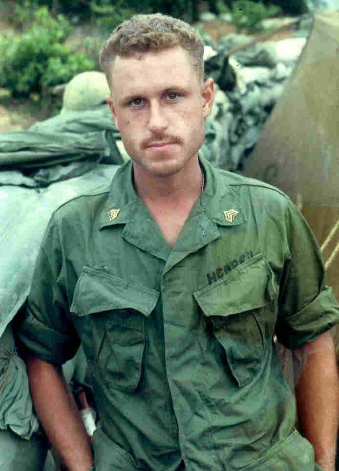 Peter Headen says that during his three years in Vietnam, he carried a photo of Jacqueline in his pack.