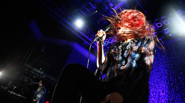 The Kills performs at the 9:30 Club in Washington, D.C. on Thursday night. (NPR)